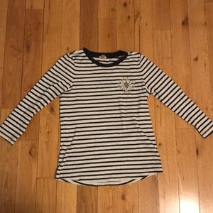 Jcrew long sleeve embellished tee